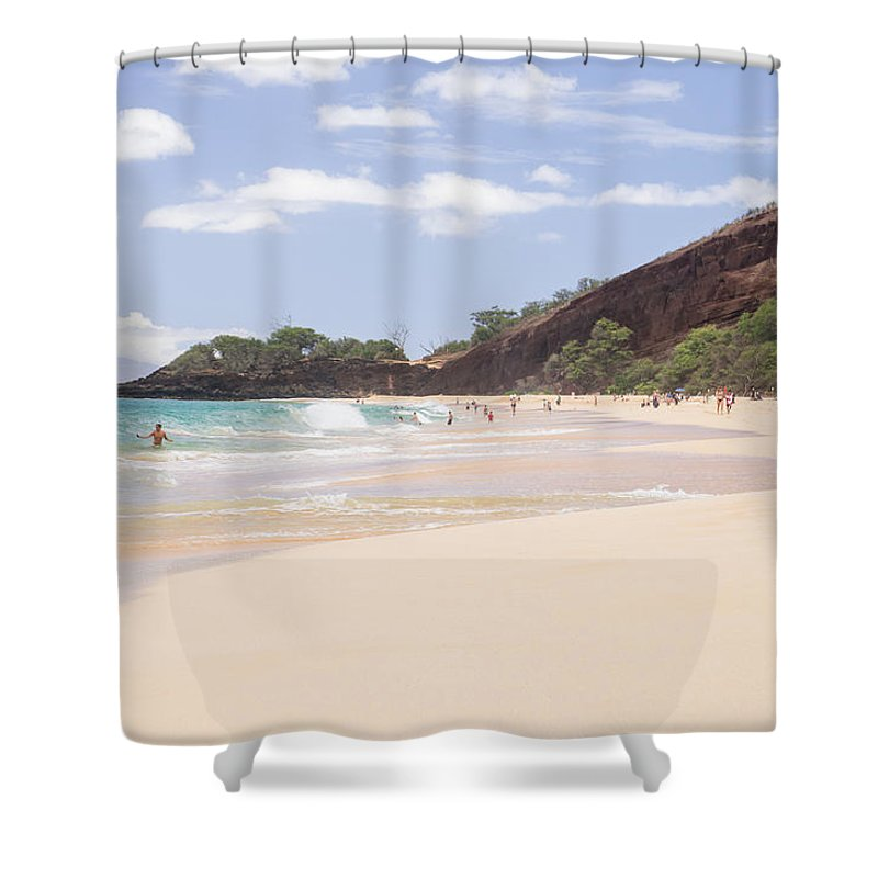 Big Beach Shower Curtain featuring the photograph Maui by Diana Weir