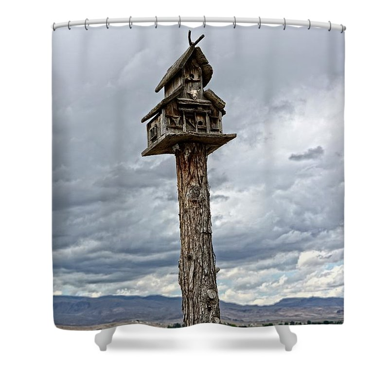 Birdhouse Shower Curtain featuring the photograph Melba Idaho by Image Takers Photography LLC