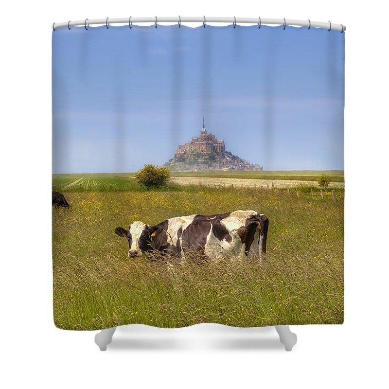 Le Mont-saint-michel Shower Curtain featuring the photograph Mont Saint-michel - Normandy by Joana Kruse
