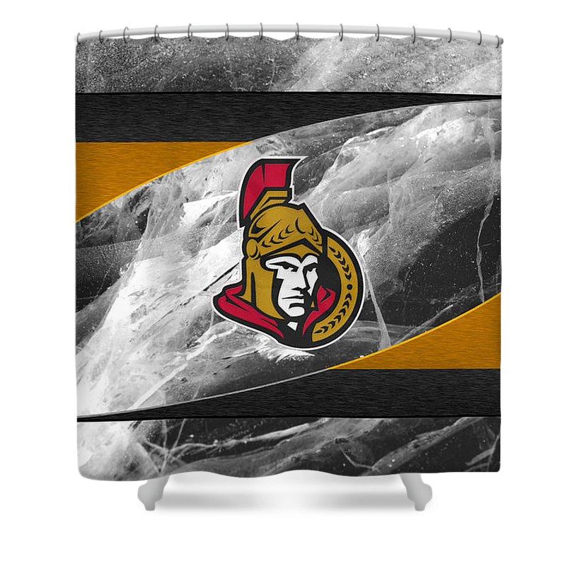 Senators Shower Curtain featuring the photograph Ottawa Senators by Joe Hamilton