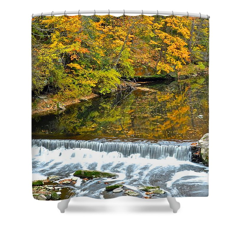 Panorama Shower Curtain featuring the photograph Panoramic Beauty by Frozen in Time Fine Art Photography