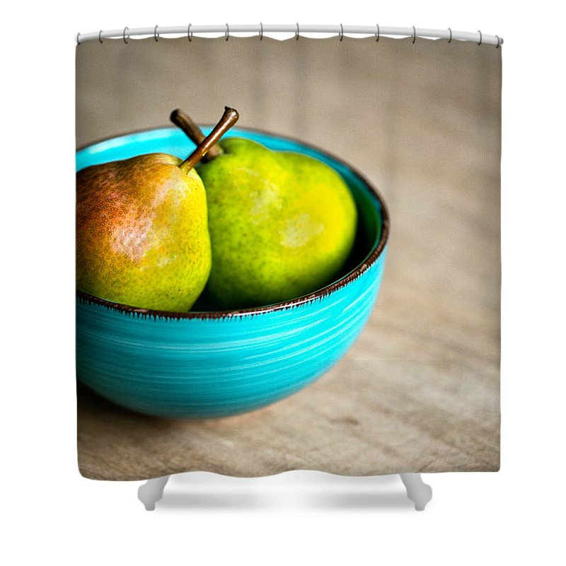 Pear Shower Curtain featuring the photograph Pears by Nailia Schwarz