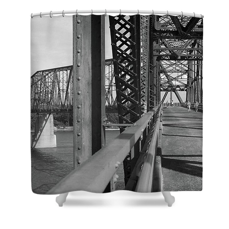 66 Shower Curtain featuring the photograph Route 66 - Chain Of Rocks Bridge by Frank Romeo