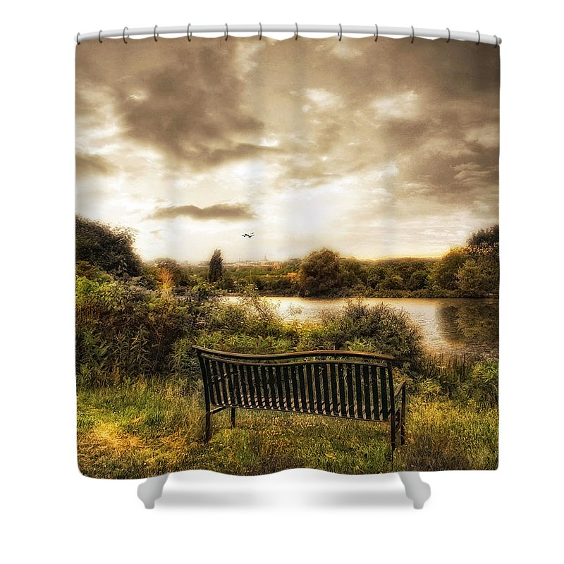 Nature Shower Curtain featuring the photograph Solitaire by Jessica Jenney