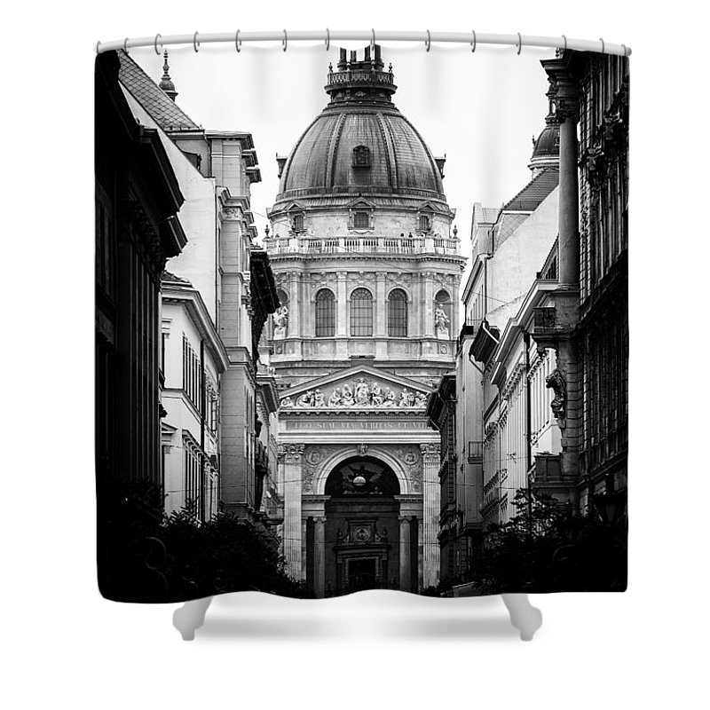 Budapest Shower Curtain featuring the photograph St. Stephen's Basilica by Mohamed Rahmo
