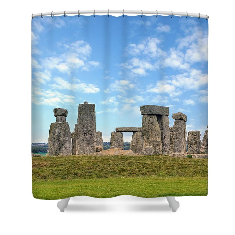 Stonehenge Shower Curtain featuring the photograph Stonehenge by Joana Kruse
