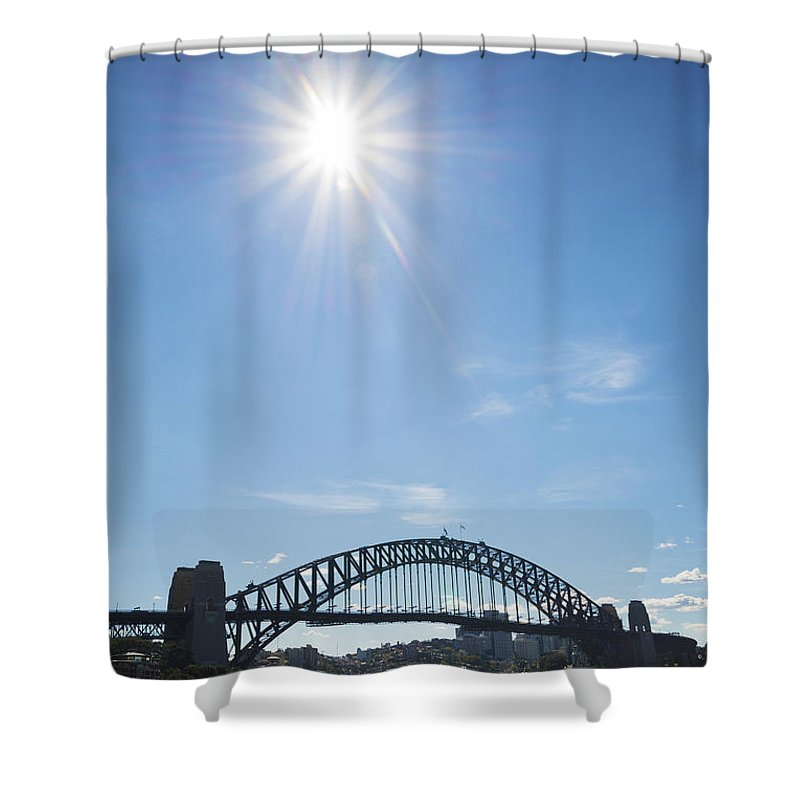 Architecture Shower Curtain featuring the photograph Sydney Harbour Bridge In Australia by Jacek Malipan