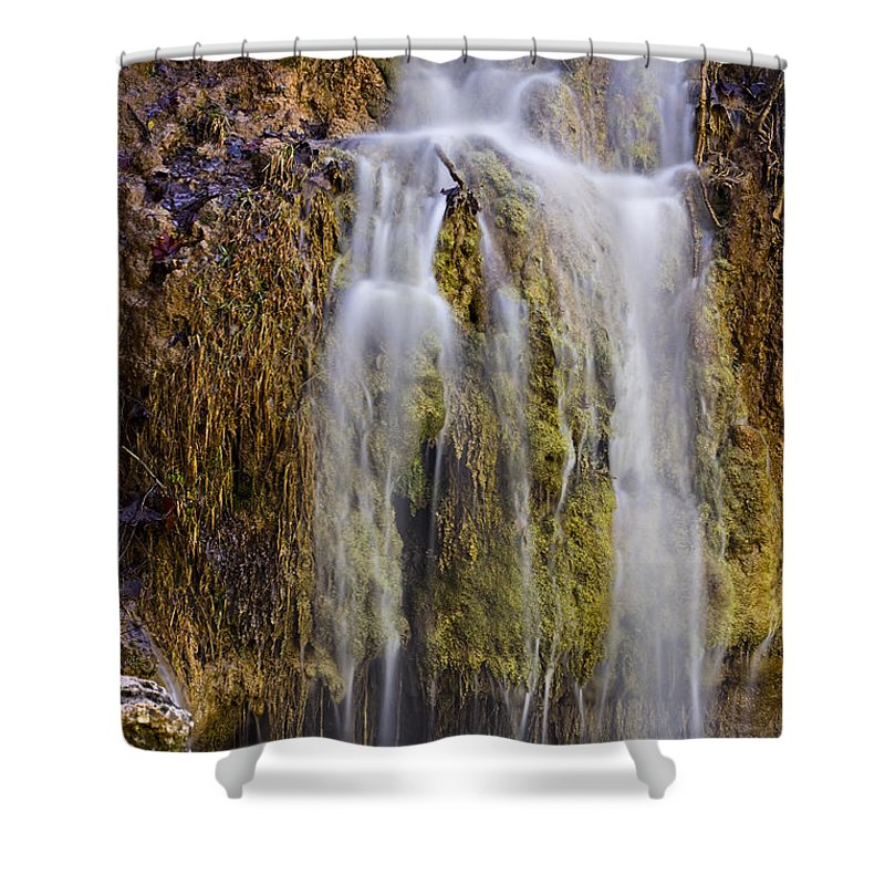 Nature Shower Curtain featuring the photograph Turner Falls by Ricky Barnard