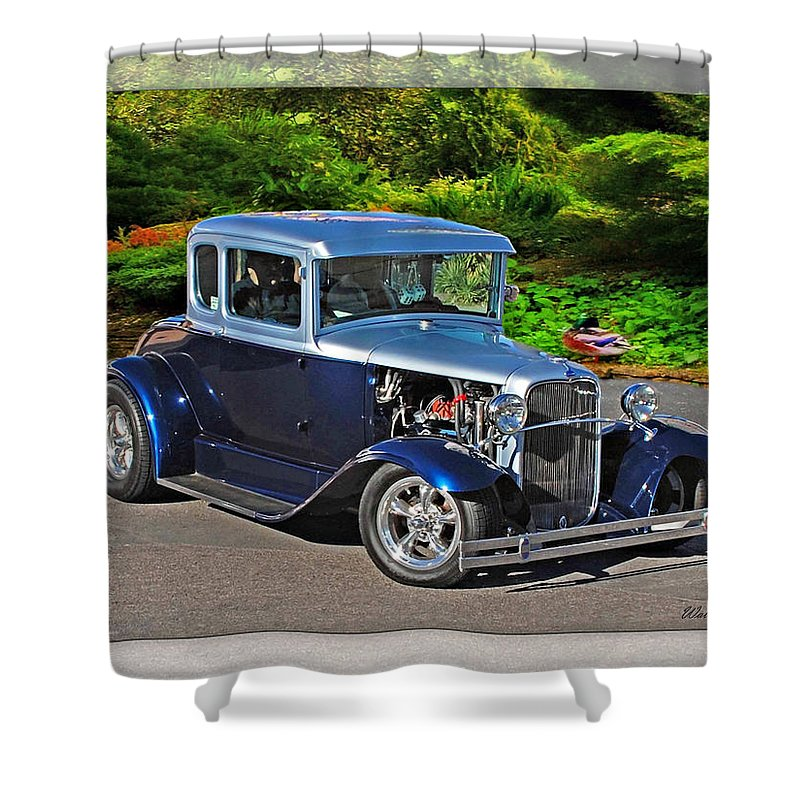 32 Ford Shower Curtain featuring the photograph 32 Ford by Walter Herrit