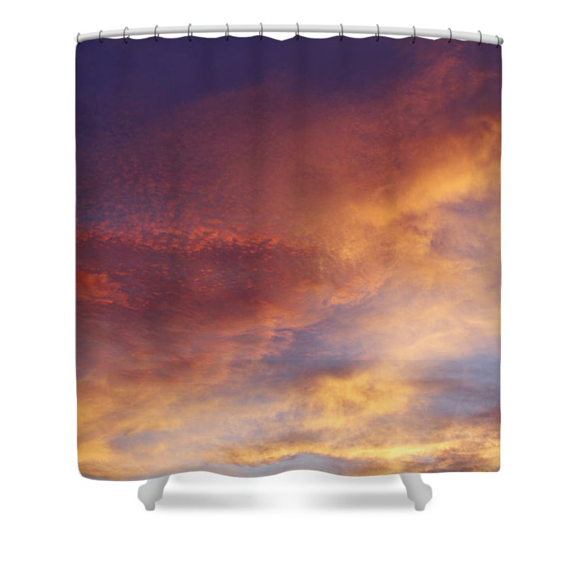 Abstract Shower Curtain featuring the photograph Bright Sky by Les Cunliffe