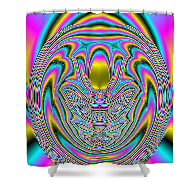 Abstract Shower Curtain featuring the digital art 350 by John Holfinger