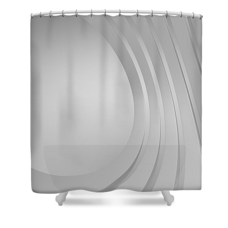 Arch Shower Curtain featuring the photograph 3d Blank Abstract Architecture by Me4o