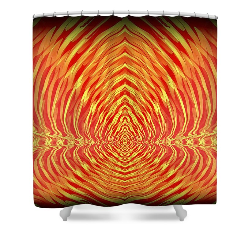 Original Shower Curtain featuring the painting Abstract 98 by J D Owen