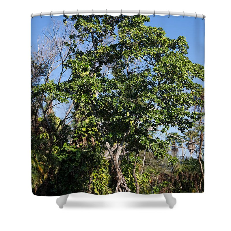 Ancient Spanish Monastery Shower Curtain featuring the digital art Ancient Spanish Monastery by Carol Ailles
