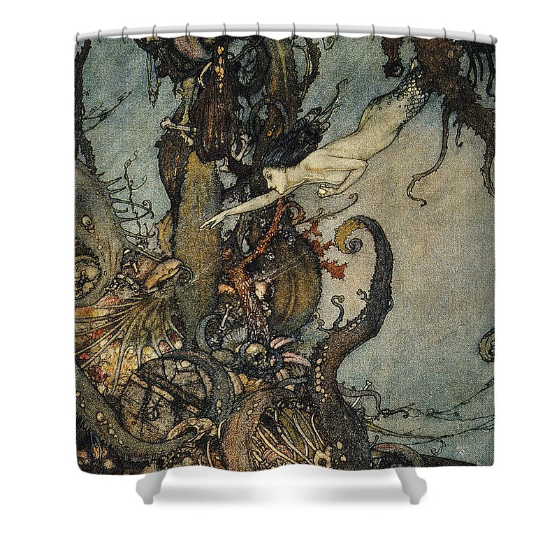 1911 Shower Curtain featuring the photograph Andersen: Little Mermaid by Granger