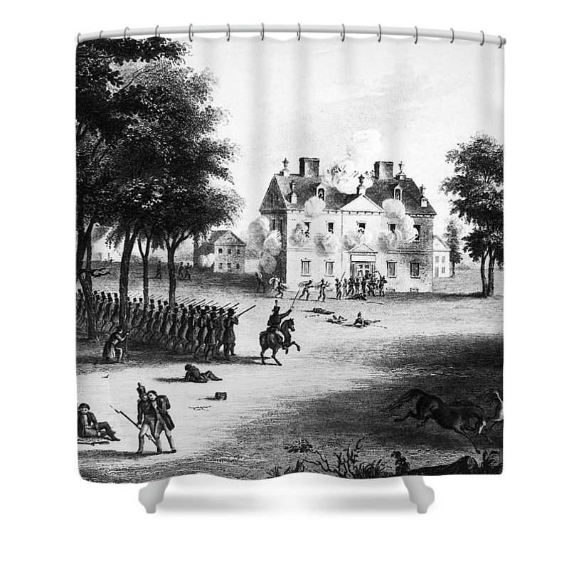 1777 Shower Curtain featuring the photograph Battle Of Germantown, 1777 by Granger
