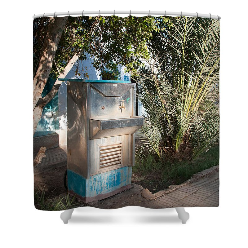 Drinking Water Shower Curtain featuring the digital art Dakhla by Carol Ailles