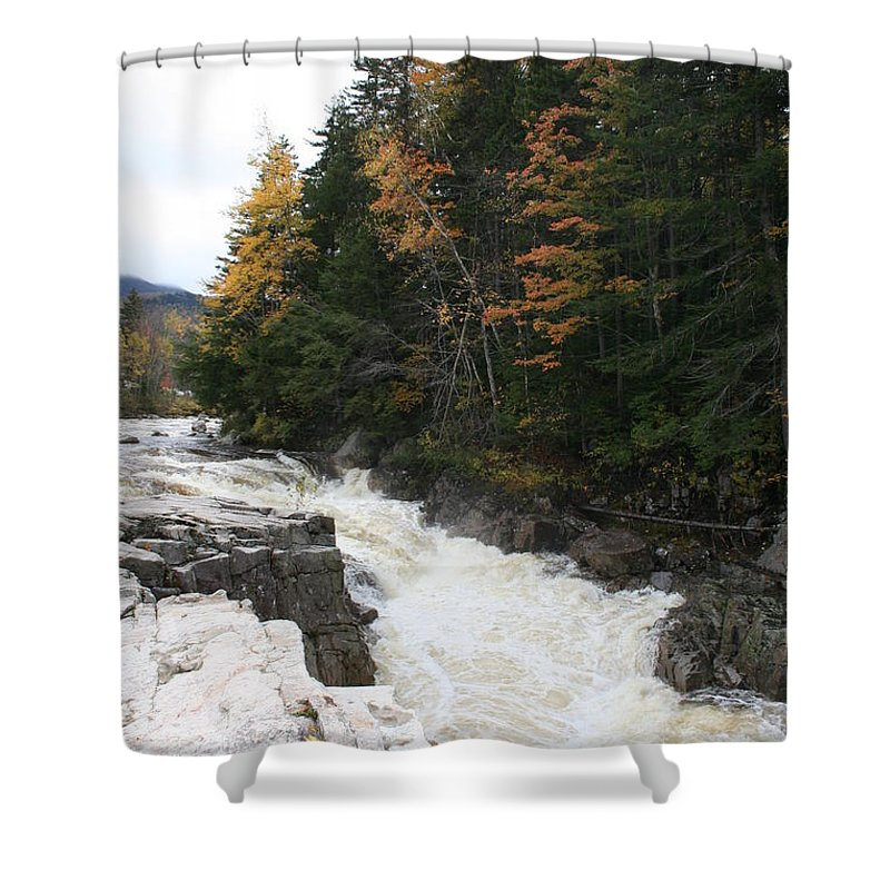 Franconia Notch Shower Curtain featuring the photograph Franconia Notch White Mountians by Christiane Schulze Art And Photography