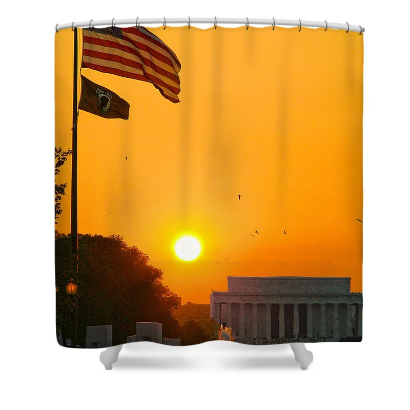 Landscape Shower Curtain featuring the photograph Freedom by Mitch Cat
