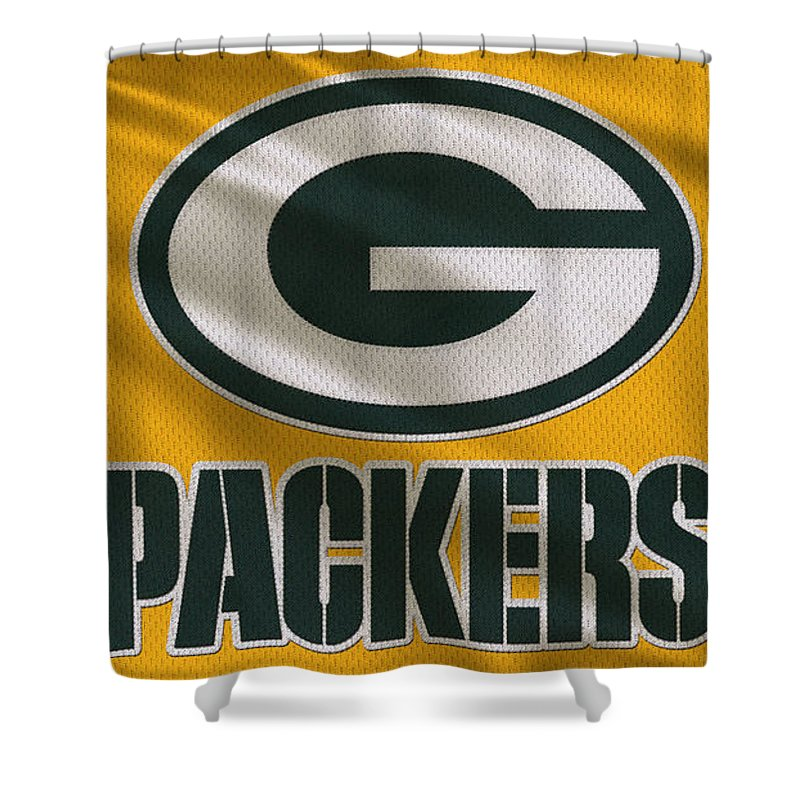 Packers Shower Curtain Featuring The Photograph Green Bay Uniform By Joe Hamilton