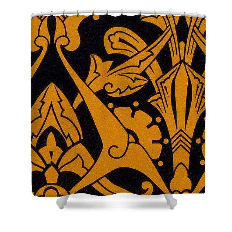 Textile Shower Curtain featuring the painting Illustration From Studies In Design by Christopher Dresser
