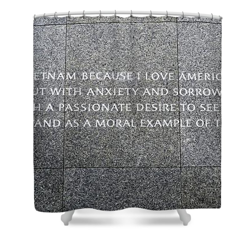Martin Luther King Memorial Shower Curtain featuring the photograph Martin Luther King Jr Memorial by Allen Beatty
