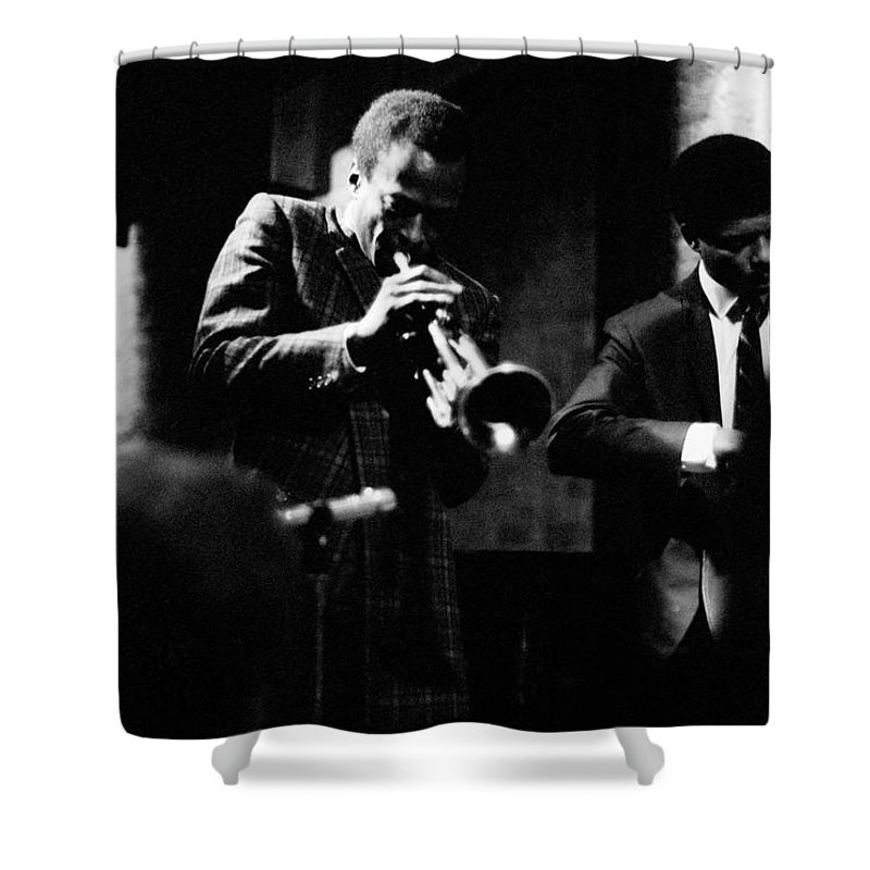 Jazz Shower Curtain featuring the photograph Miles Davis At The Penthouse by Dave Coleman