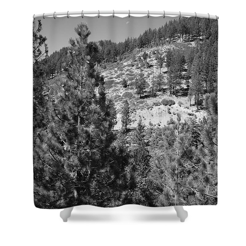 Alpine Shower Curtain featuring the photograph Mountainside Near Lake Tahoe by Frank Romeo