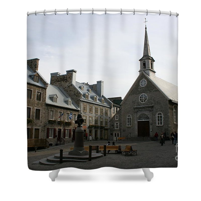 Old Town Shower Curtain featuring the photograph Old Town Quebec - Canada by Christiane Schulze Art And Photography