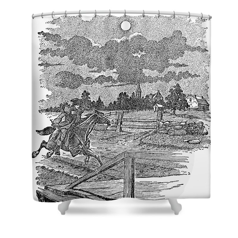 1775 Shower Curtain featuring the photograph Paul Reveres Ride by Granger