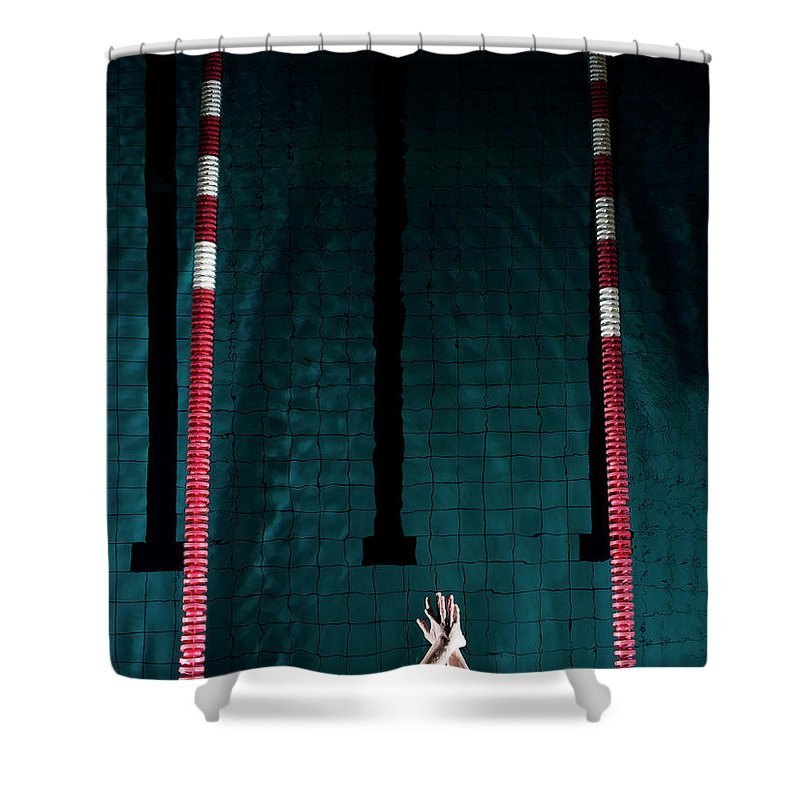 Human Arm Shower Curtain featuring the photograph Professional Swimmer by Henrik Sorensen