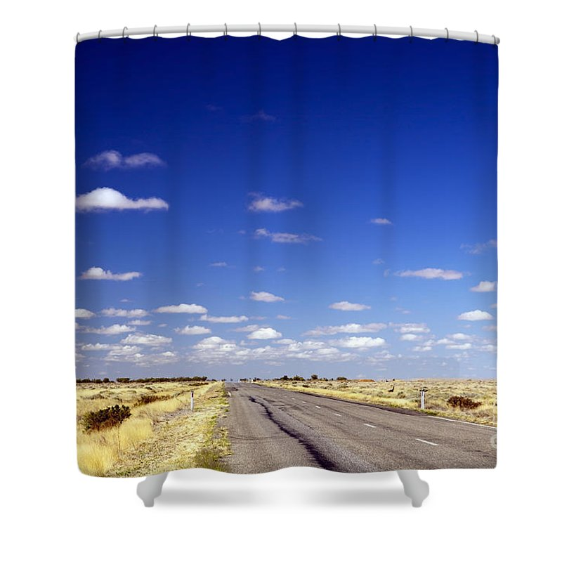 Ahead Shower Curtain featuring the photograph Road Ahead by Tim Hester