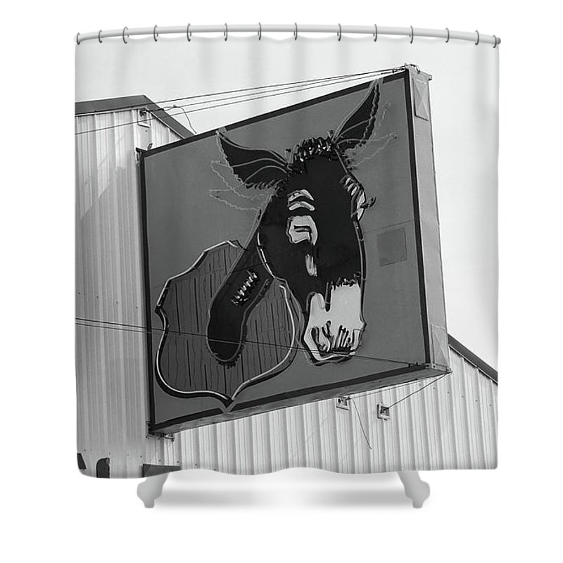 66 Shower Curtain featuring the photograph Route 66 - Mule Trading Post by Frank Romeo