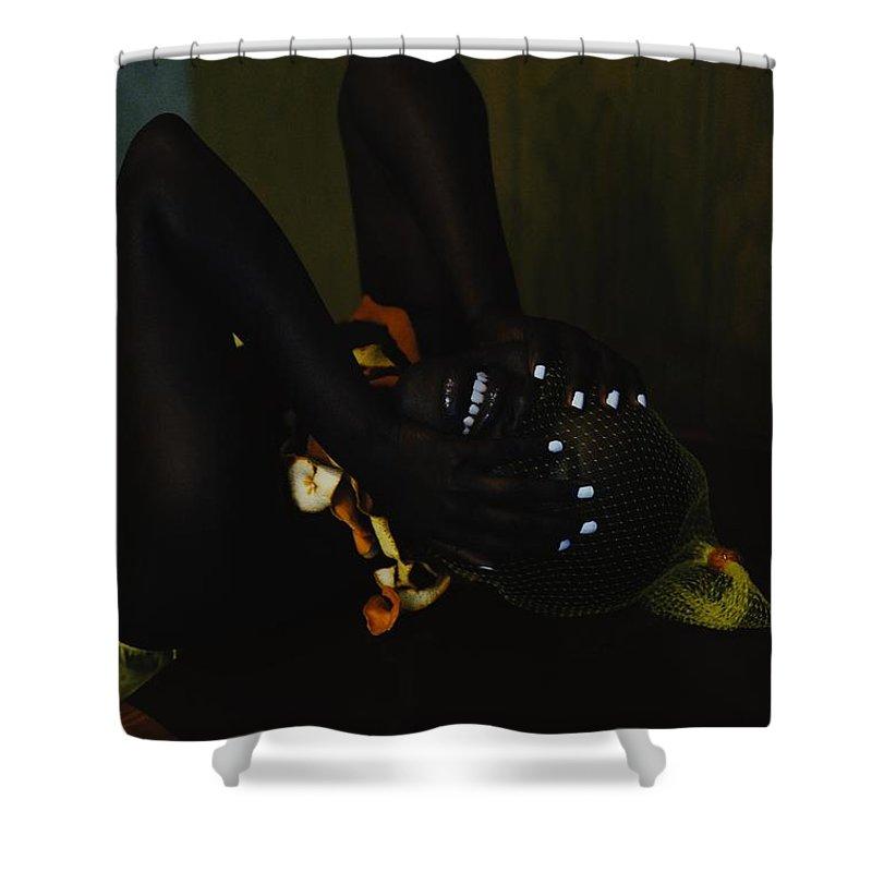 Headwear Shower Curtain featuring the photograph The Black Victorian by Stephanie Nnamani