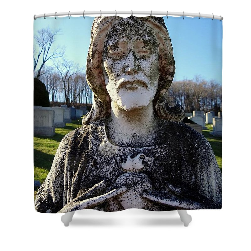 Jesus Shower Curtain featuring the photograph Untitled by Ed Weidman
