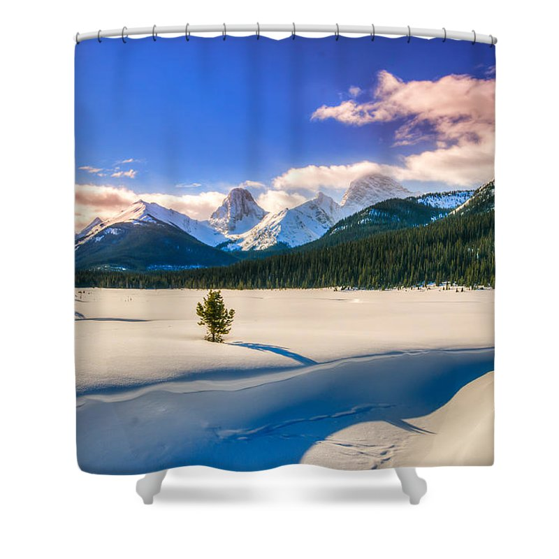 Alberta Shower Curtain featuring the photograph Winter In The Mountains by Brandon Smith