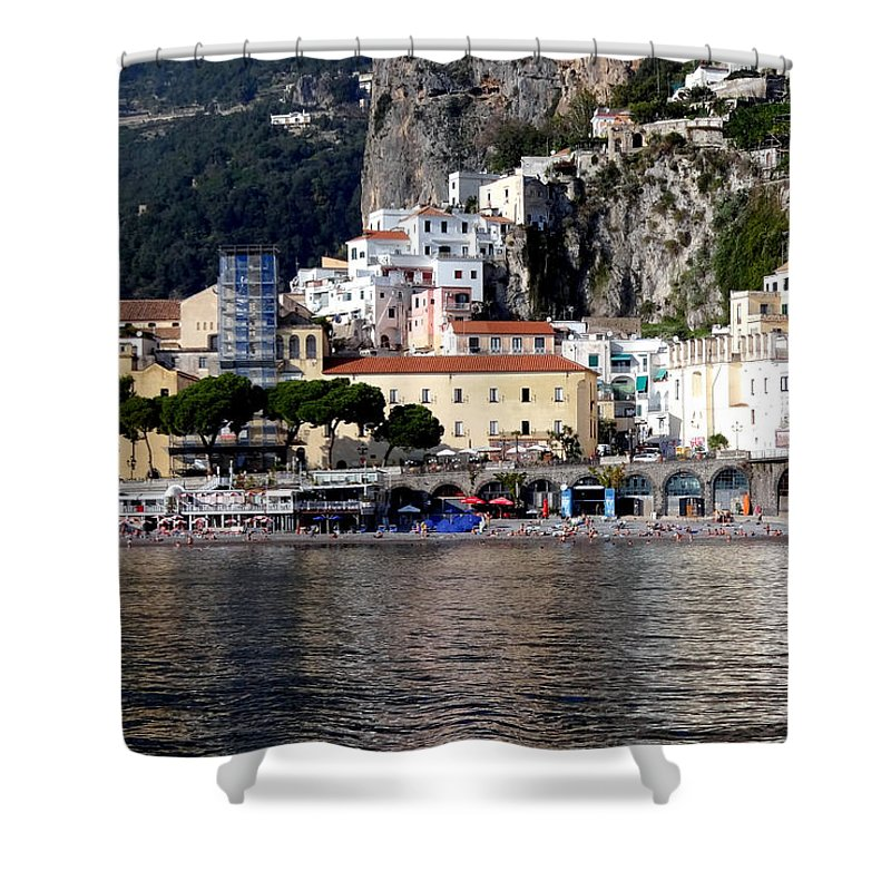 Amalfi Coast Shower Curtain featuring the photograph Views From The Amalfi Coast In Italy by Richard Rosenshein