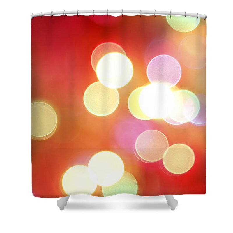 Bright Lights Shower Curtain featuring the photograph Abstract Background by Les Cunliffe