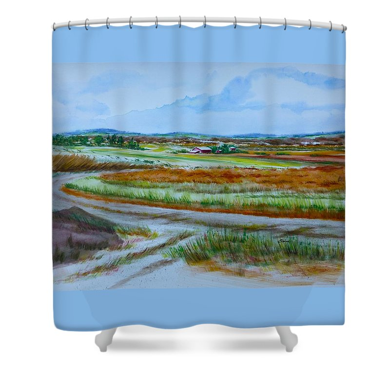 Gettysburg Shower Curtain featuring the painting 43. Gettysburg - The Land Remembers by Elaine Wilson