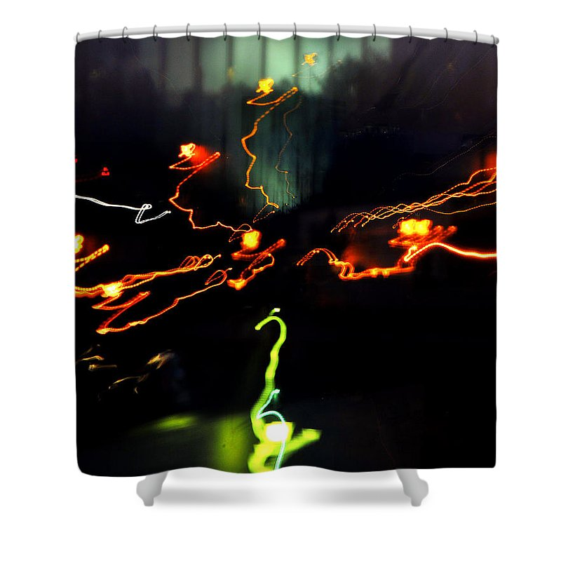 Lights Shower Curtain featuring the photograph Untitled by Gene Tatroe
