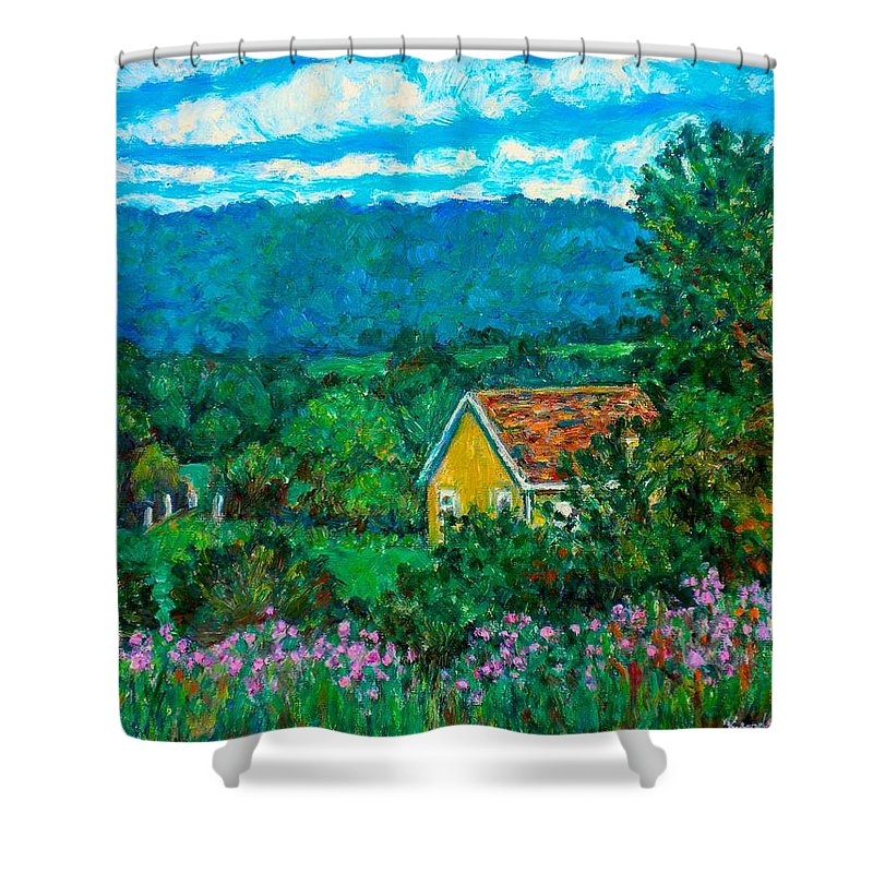 Landscape Shower Curtain featuring the painting 460 by Kendall Kessler