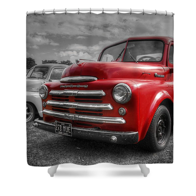 Hdr Shower Curtain featuring the photograph 48' Dodge Fargo by Lee Nichols