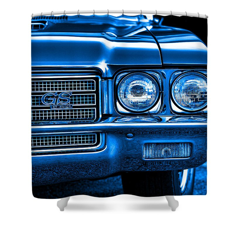 Blue Shower Curtain featuring the photograph 1971 Buick Gs by Gordon Dean II
