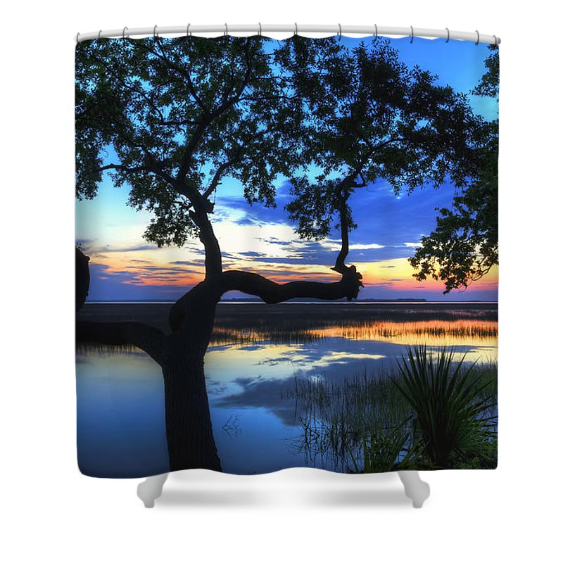 April Shower Curtain featuring the digital art April Morning by Phill Doherty