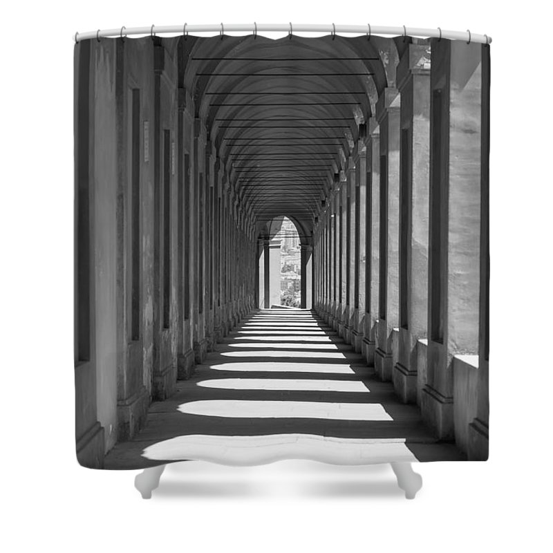 Arcade Shower Curtain featuring the photograph Archway by Mats Silvan