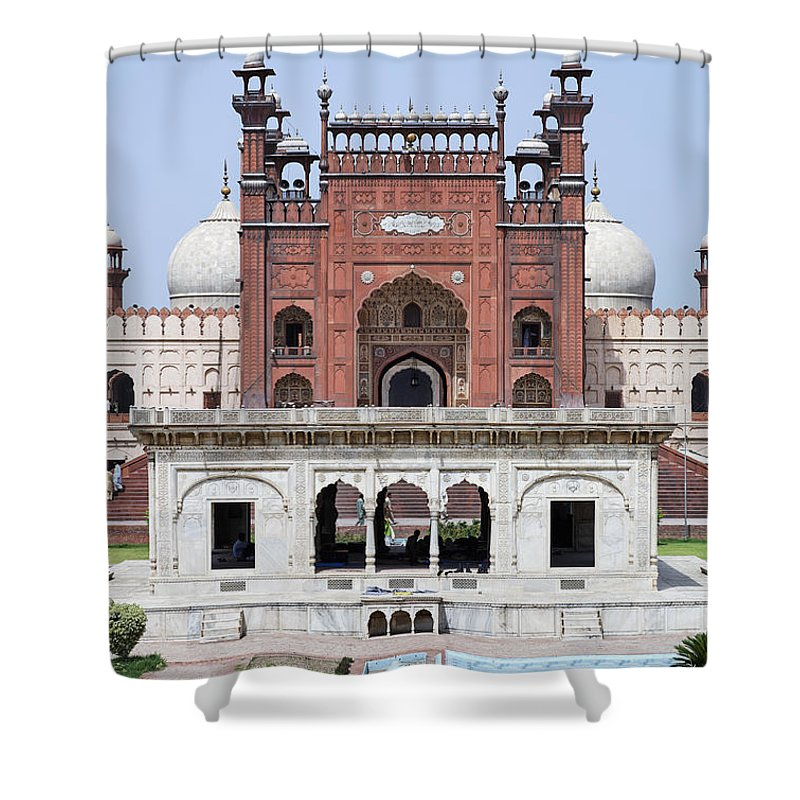 Lahore Shower Curtain featuring the photograph Badshahi Mosque In Lahore Pakistan by Robert Preston