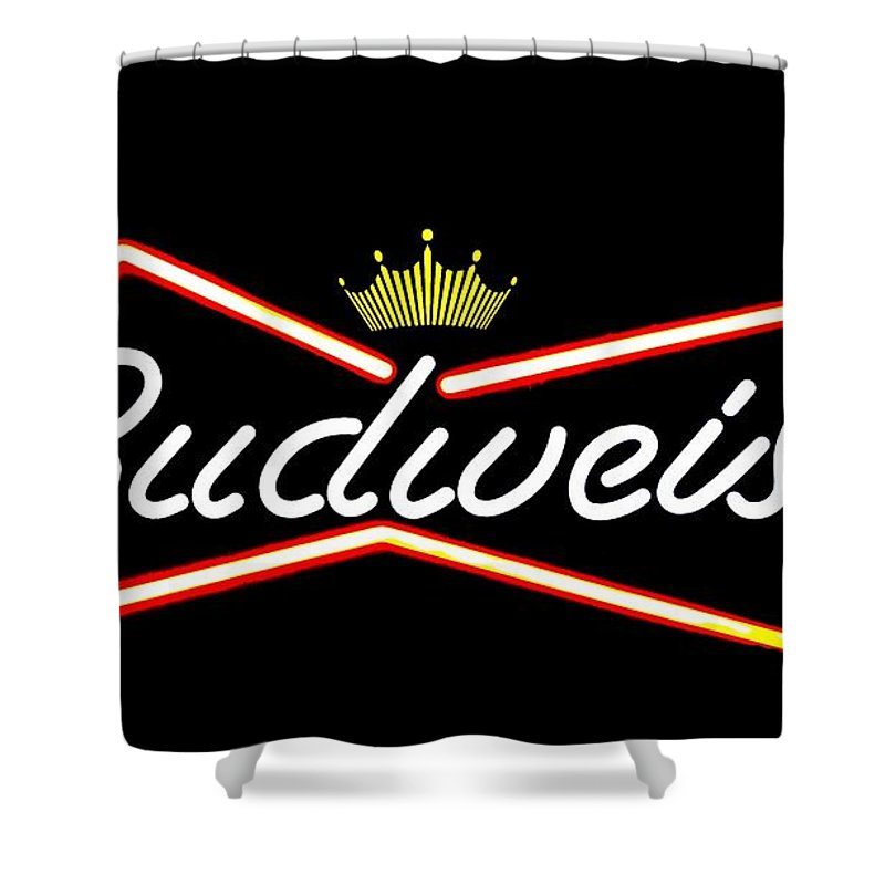 Shower Curtain featuring the photograph Budweiser by Kelly Awad