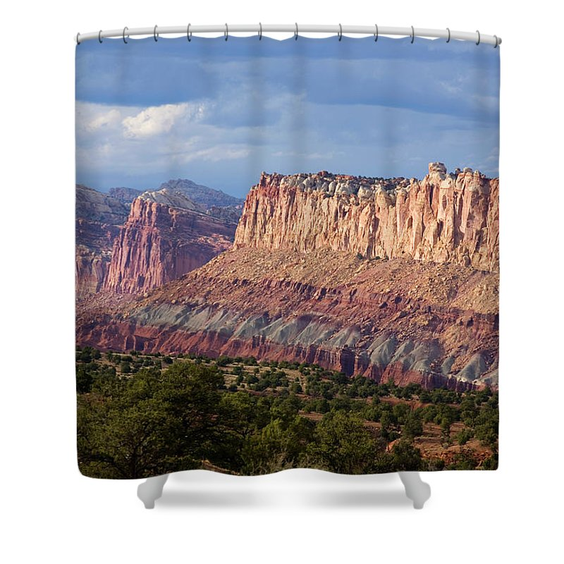 Capitol Reef National Park Shower Curtain featuring the photograph Redrock Scenery In Capitol Reef by Scott Warren