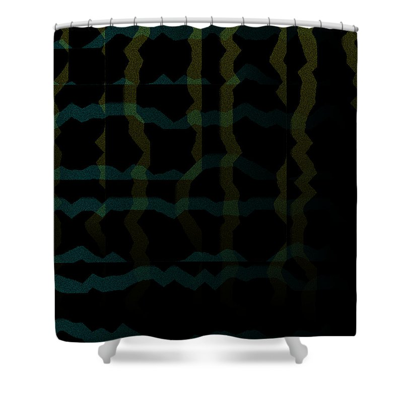 Abstract Shower Curtain featuring the digital art 5040.24.12 by Gareth Lewis