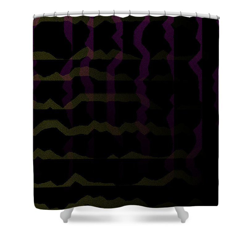Abstract Shower Curtain featuring the digital art 5040.24.17 by Gareth Lewis
